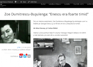 Site Enescu - captura SHAREuri