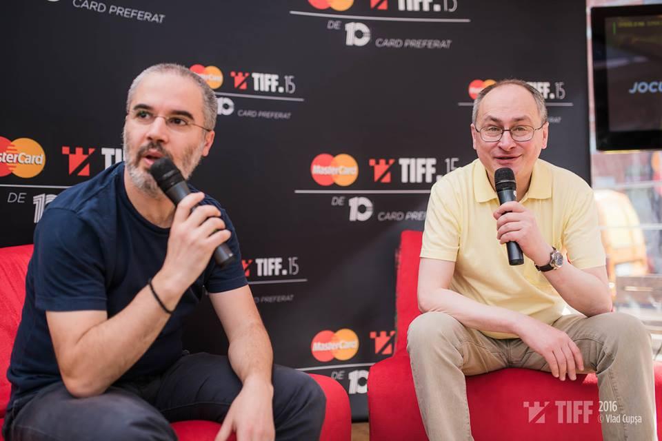 Nae Caranfil în dialog cu Mihnea Măruță la Tiff Lounge