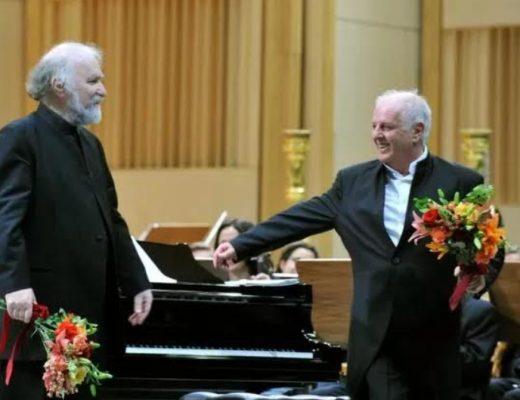 Radu Lupu și Daniel Barenboim pe scena Sălii Palatului - Agerpres