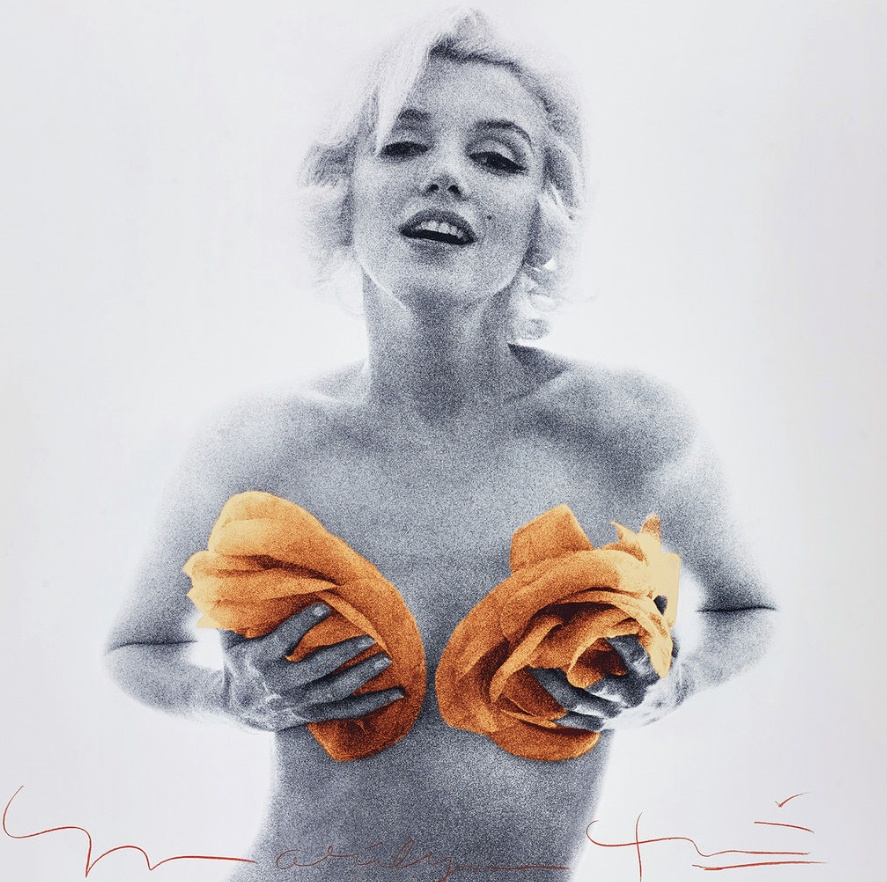Bert Stern, Marilyn with Apricot Roses from The Last Sitting, 1962 Phillips
