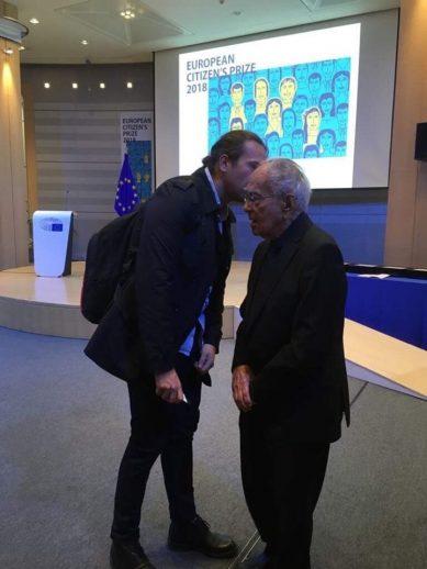 Cu Mihai Sora, in Parlamentul European, octombrie 2018