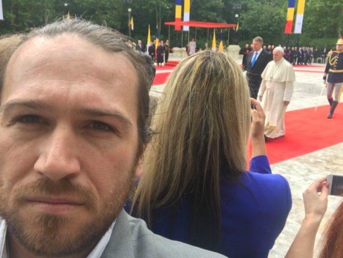 Selfie cu Papa la Cotroceni