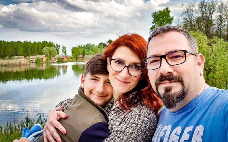 Violeta Moisă, alături de soțul și fiul lor
